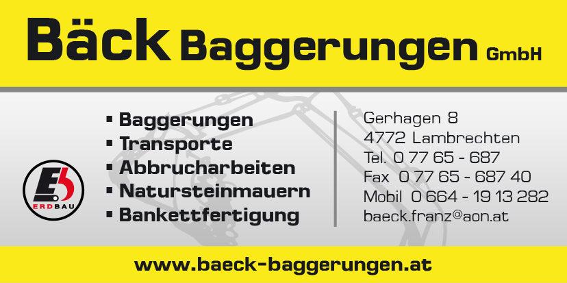 Bäck Baggerungen GmbH